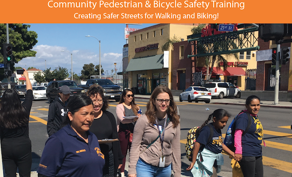 Community members on walk audit