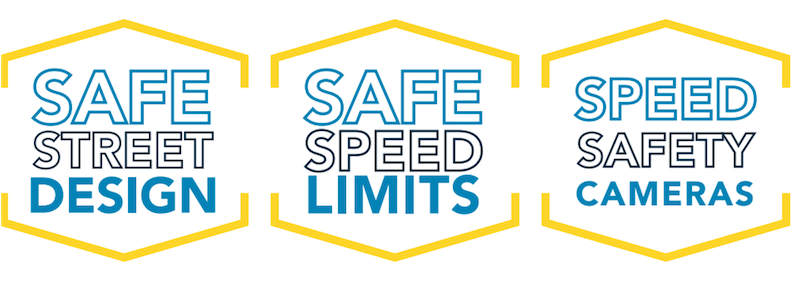 safe street design, safe speed limits and speed safety cameras