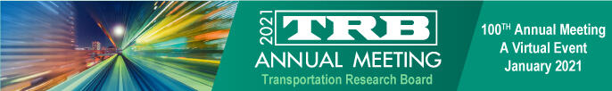 Logo for 2021 TRB Annual Meeting