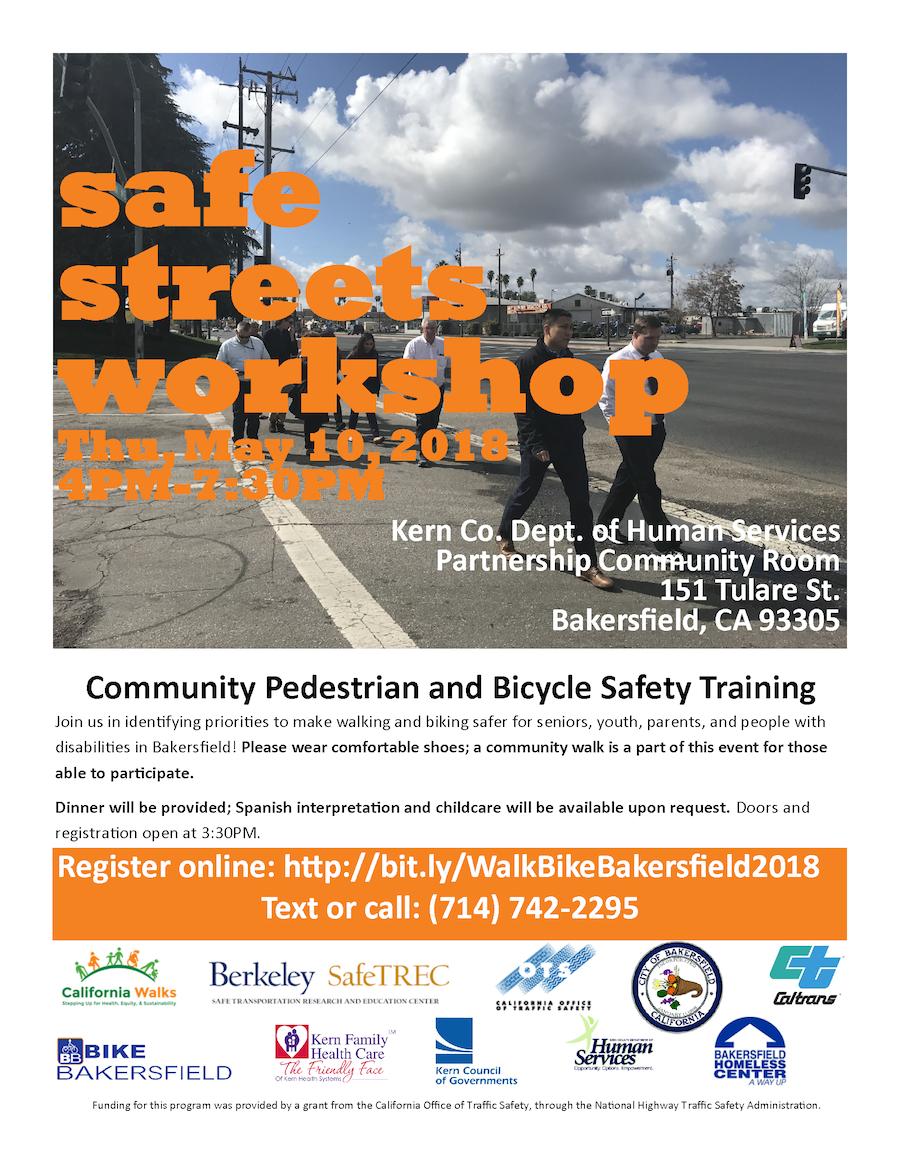 Safe Streets Workshop in Bakersfield