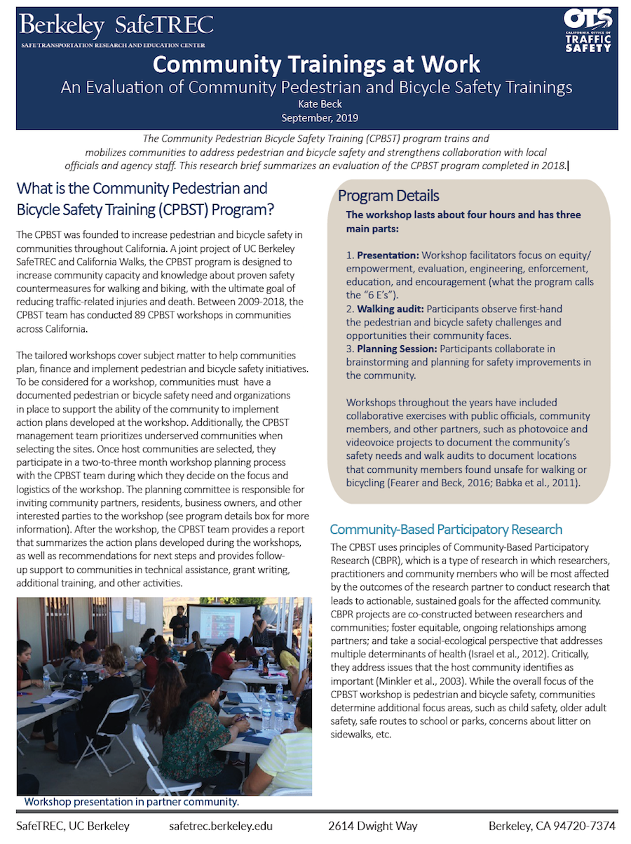 Page 1 of CPBST Evaluation Research Brief