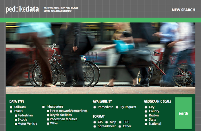 Home page of CSCRS Pedbike Data Clearinghouse