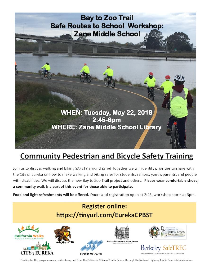 Safe Routes to School Workshop in Eureka