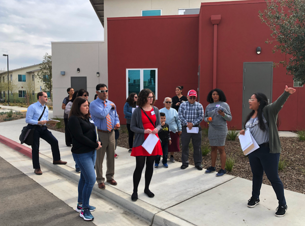 Participants on a walk assessment at a CPBST in Fowler, CA