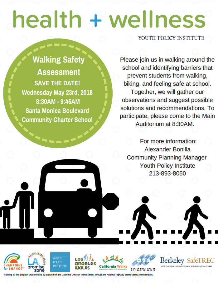 Walking Safety Assessment Flyer for Los Angeles