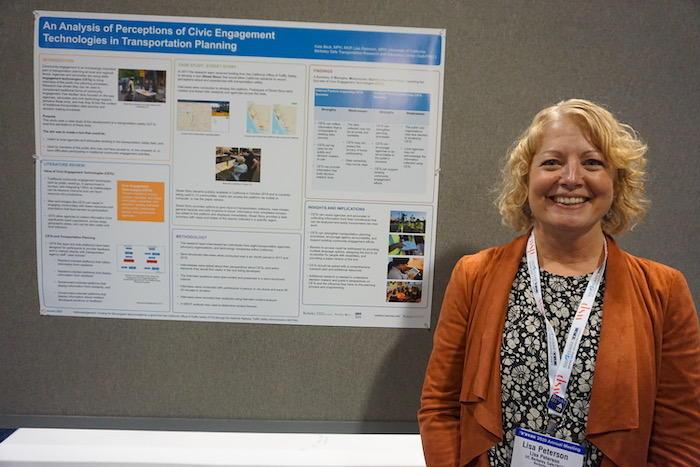 Lisa Peterson at Poster Presentation TRB 2020