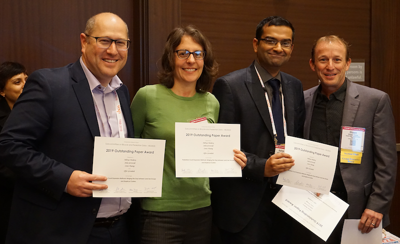 Offer Grembek, Julia Griswold and Aditya Medury Outstanding Paper Award at TRB 2019