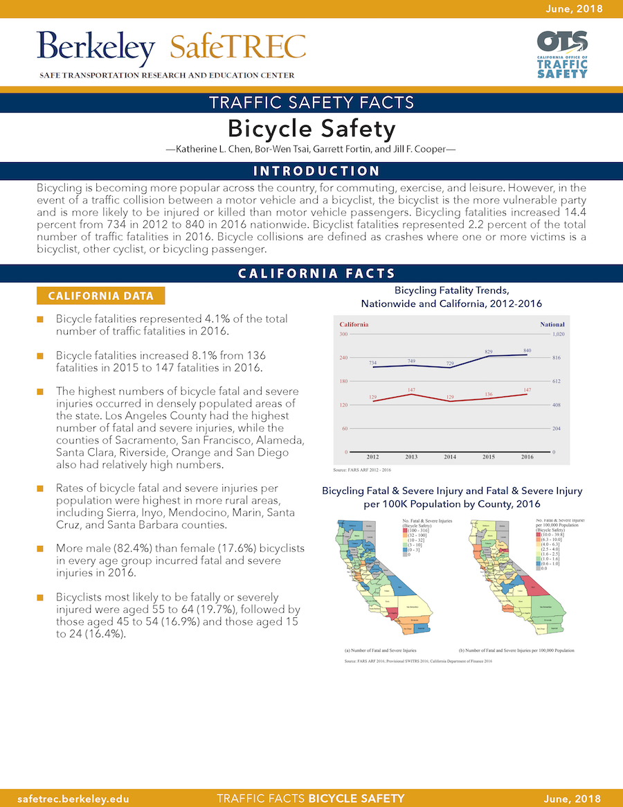 Bicycle Safety Fact Sheet
