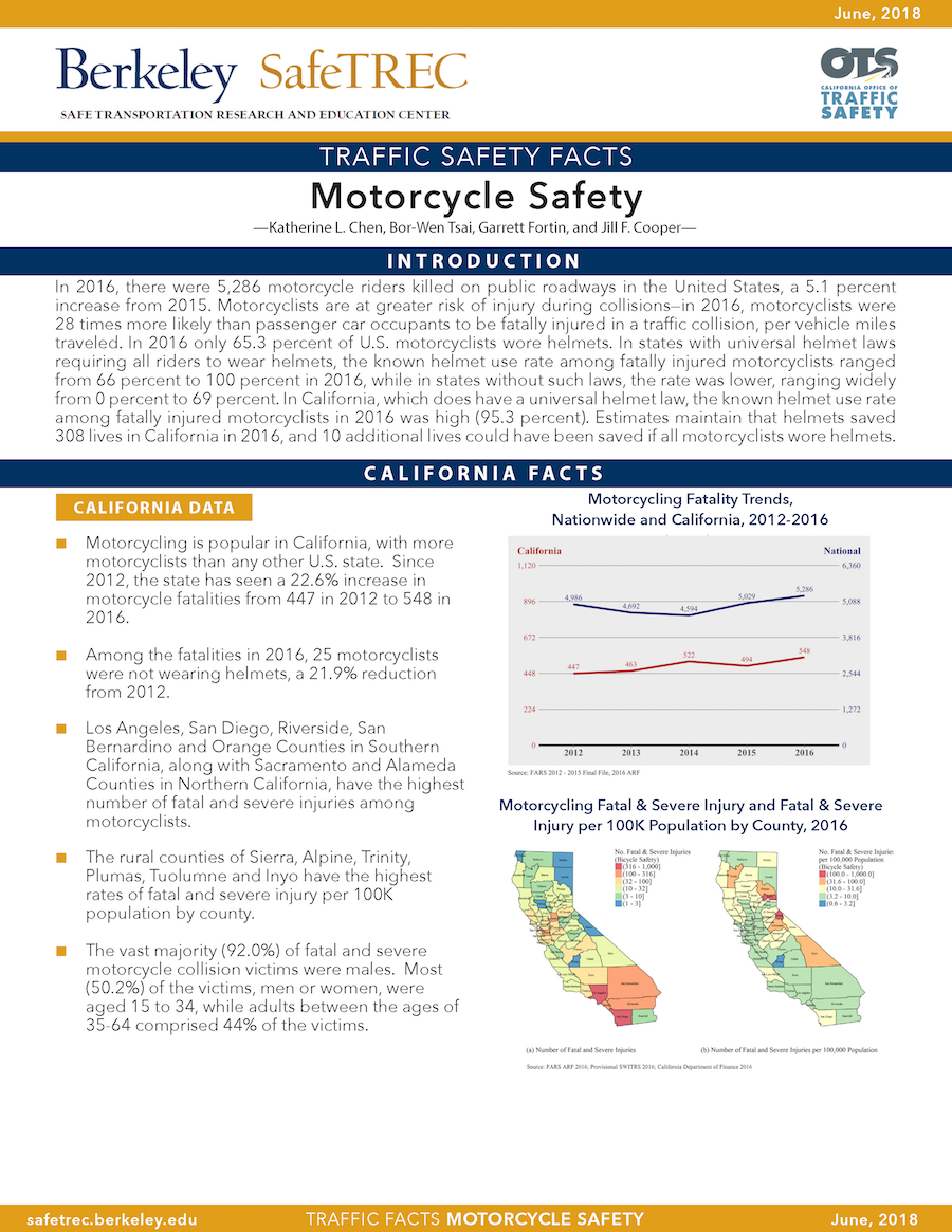 Motorcycle Safety Fact Sheet