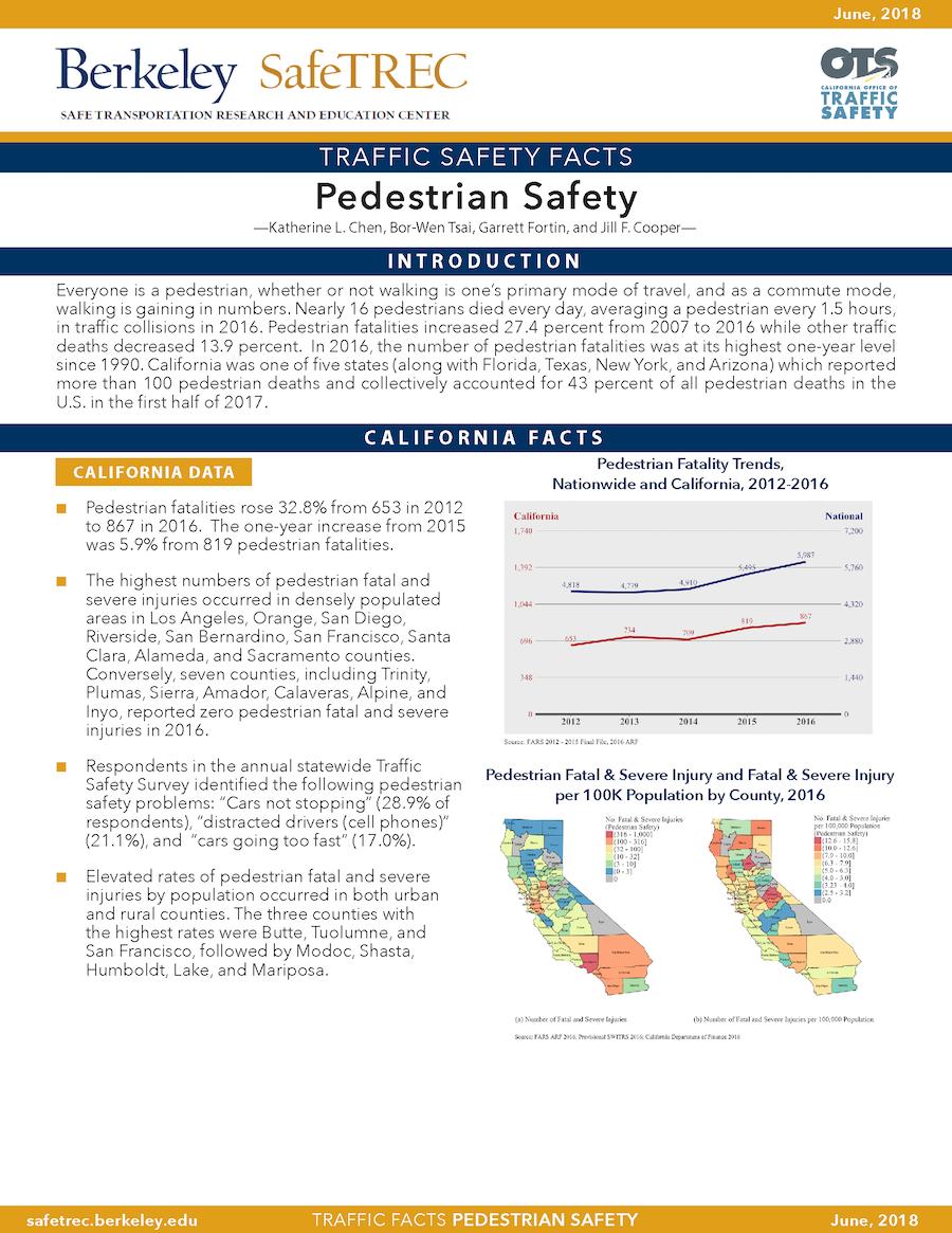 Pedestrian Safety Fact Sheet
