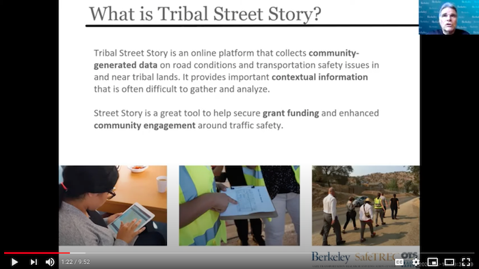Video image describing what Tribal Street Story is
