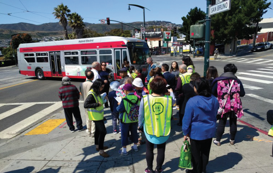 Seniors conducting walk audit in San Francisco