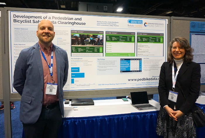 Wes Kumfer and Krista Nordback of CSCRS at TRB 2020
