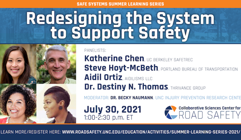 Promo of Session 3 in the CSCRS Safe Systems Summer Learning Series