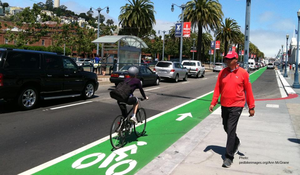 Pedestrians at San Francisco crosswalk