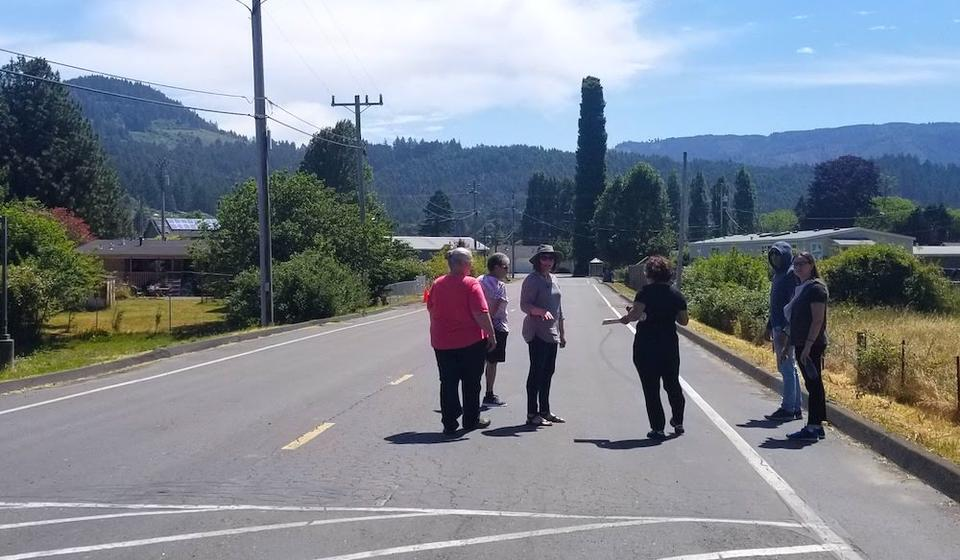 Participants on a walk assessment in Blue Lake Rancheria