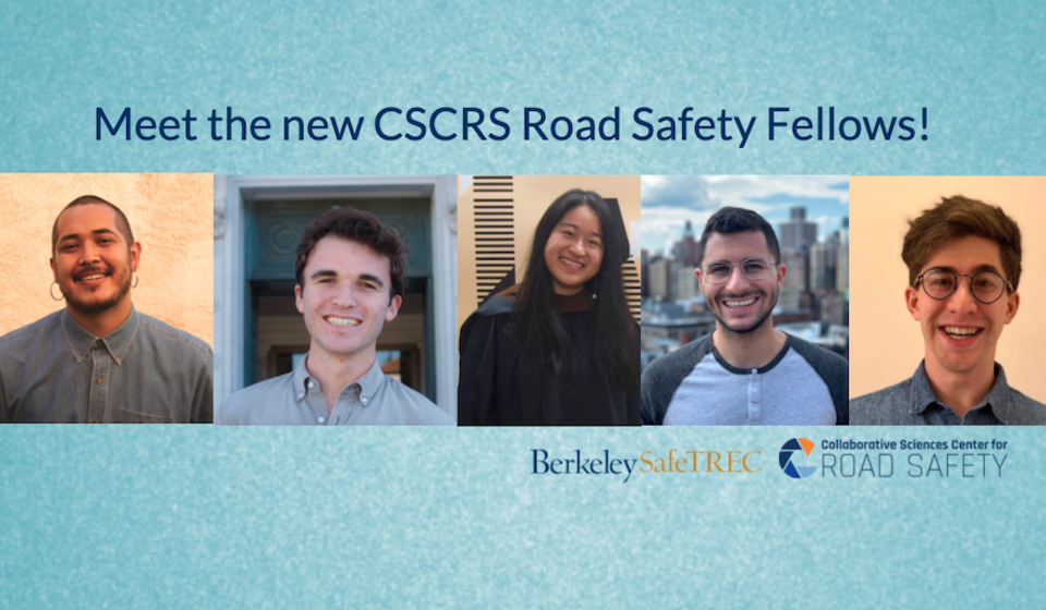 Collage of the five new CSCRS Road Safety Fellows for 2020-2021