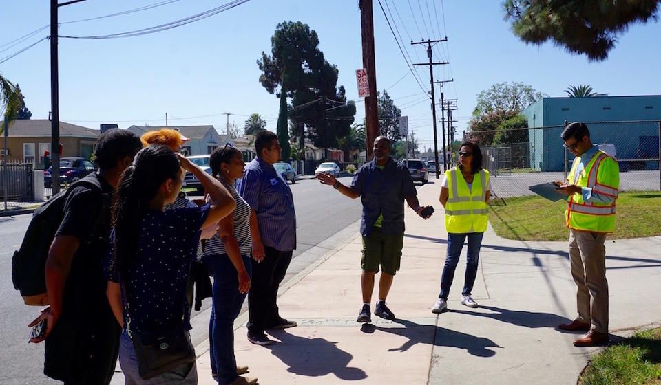 Participants on a walk assessment in Willowbrook