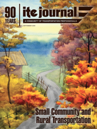 Cover of the September issue of the ITE Journal