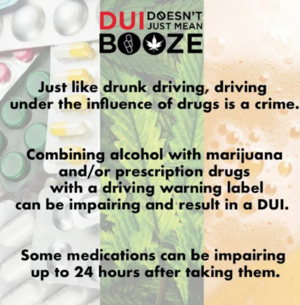DUI Doesn't Just Mean Booze Facts