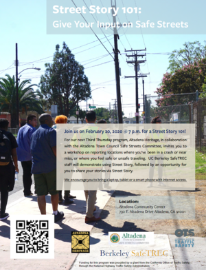 Street Story 101 Flyer with image of participants in walk assessment