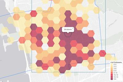 ATP map showing collisions in Berkeley, CA