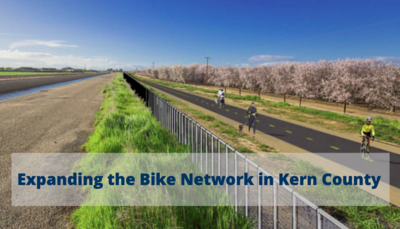 Graphic of new design for the Friant Kern Canal Multi-Use Path